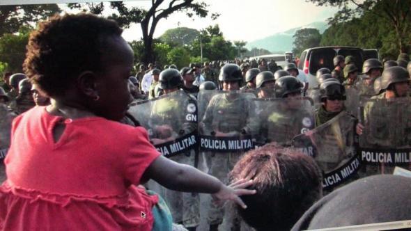 Nos nove países por onde passam, são frequentes os confrontos com as autoridades. Irineo Mujica