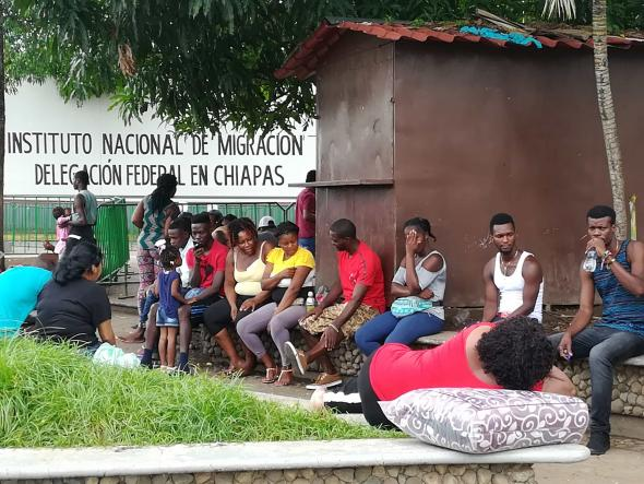 A Estação Migratória Século XXI, em Tapachula, é a maior da América Latina. Pedro Cardoso