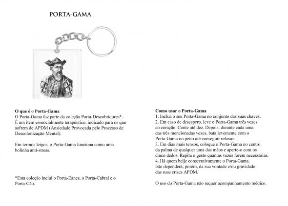 'Porta Gama', excerto de Kit De Sobrevivência Do Descobridor Português no Mundo Anticolonial, de Patrícia Lino