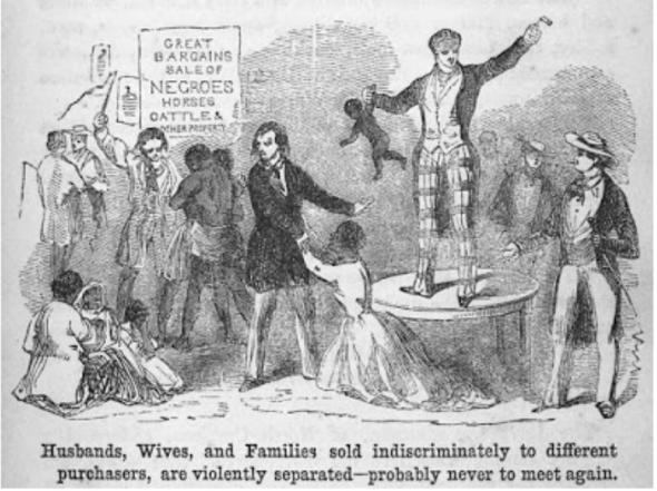Leilão de escravos, c.1853