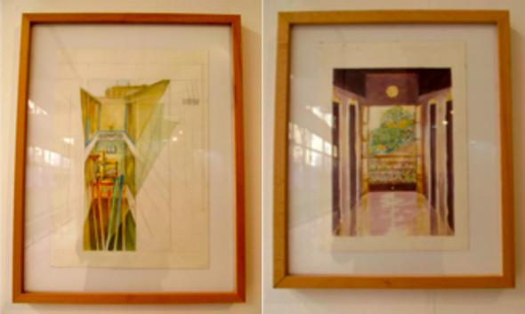 Figs 5 e 6 Ruy Duarte de Carvalho, Série Rendição do Celibatário II (Hotel Globo), 2009, aguarelas.