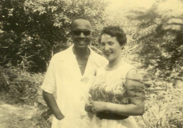 Amílcar e Maria Helena recentemente chegados a Bissau