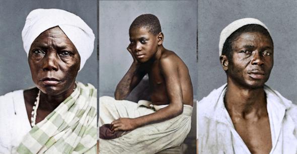 Fotos históricas colorizadas por Marina Amaral, em projeto chamado 'In Color || Slavery In Brazil, 1869'