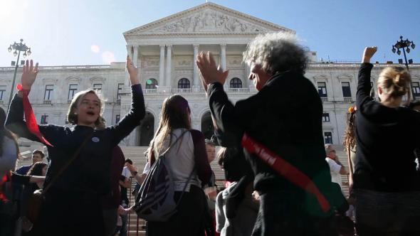 Manifestação Não Ao Furo!, abril em Lisboa