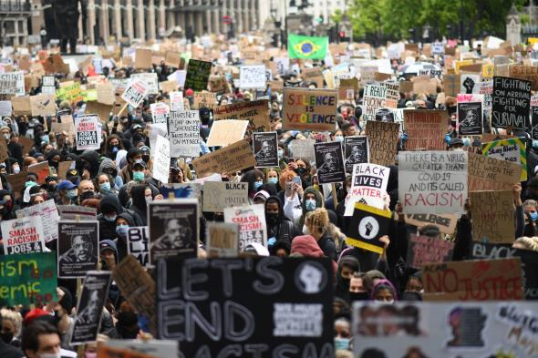 Black Lives Matter protests in UK.