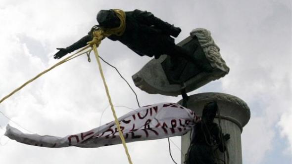A figura de Colombo tem sido alvo de vandalismo em Miami, Los Angeles, Boston ou Texas