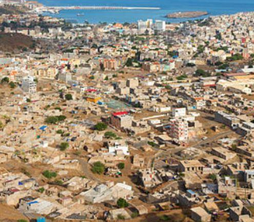 vista aérea da capital, Praia