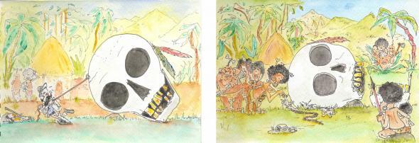 'O racismo científico mata', desenhos de Ricardo Roque.