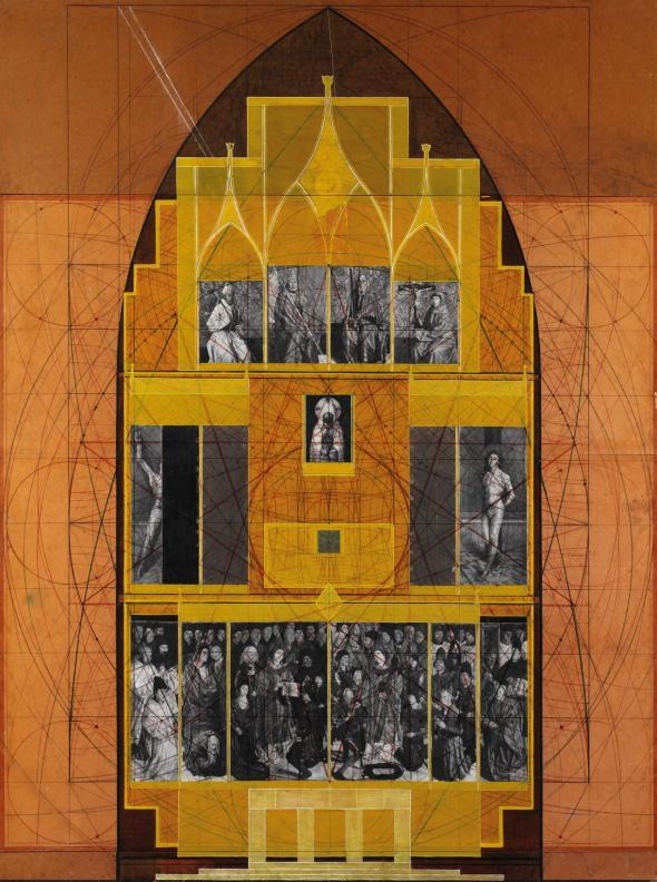 Os quinze painéis na Capela do Fundador (título atribuído)© Direitos reservados