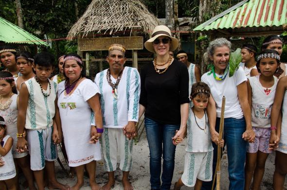 """Christiane Torloni durante as gravações do documentário """"Amazônia, o Despertar da Florestania"""""""