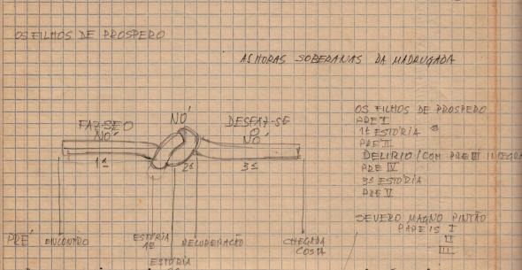 Fig. 14 − Detalhe de digitalização de plano para escrita de A Terceira Metade.