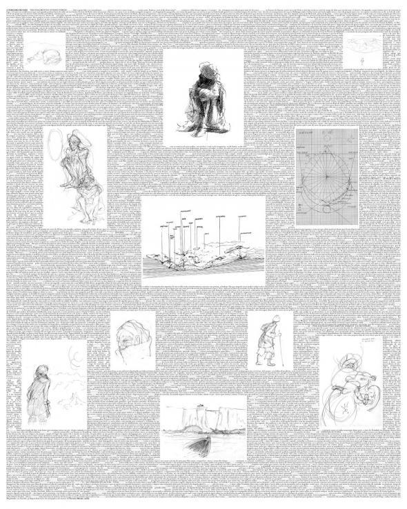 Fig. 19 − A Terceira Metade num só Quadro para a exposição UDZC, montagem de Pedro Castanheira