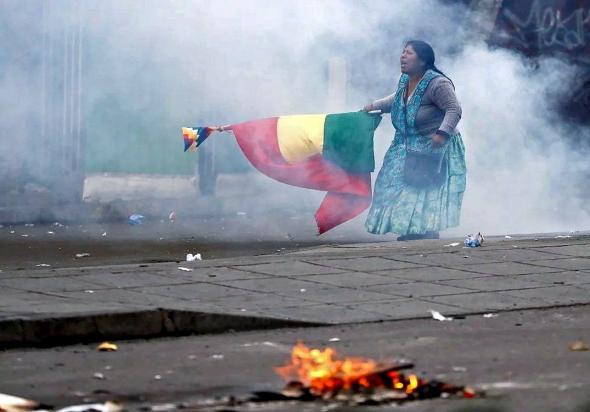 O MAS tem um forte apoio dos indígenas da Bolívia