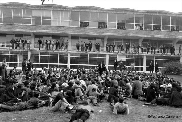 Manifestação estudantil em Coimbra.