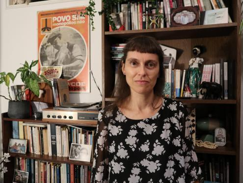 Joana Craveiro diretora artística do Teatro do Vestido que fundou em 2001. Foto de Mariana Carneiro, outubro de 2020.