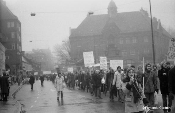 Manifestação de protesto contra o assassinato de Amílcar Cabral. Lund, Suécia, Janeiro de 1973.