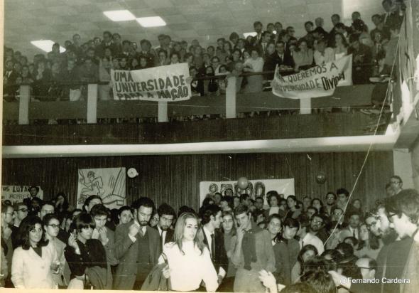 Plenário na Cantina da Cidade Universitária, 20 Novembro de 1968