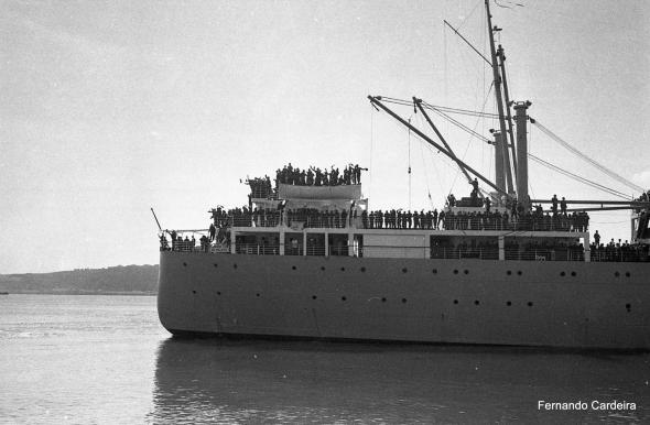 Embarque de tropas para África em 12 de Abril de 1969.
