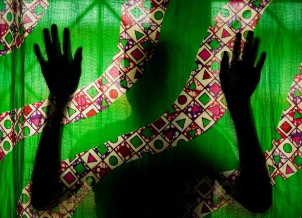 Foto de UNICEF  Ilustração de publicação de violência contra a mulher