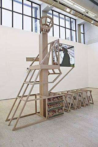Ângela Ferreira, 'For Mozambique' - Model nº 3 for propaganda stand, screen and loudspeaker platform celebrating a post-independence Utopia. Fundação Calouste Gulbenkian