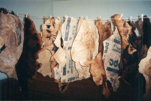 Moshekwa langa, installation skins, 'Don't Mess with Mister In-Between' (1996)