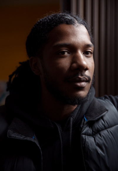 Damon Williams is the co-director of the #LetUsBreathe Collective, a Chicago-based alliance of artists and activists. 'I'm optimistic about changing the spirit and the will of the people,' he says.Thomas Gavin