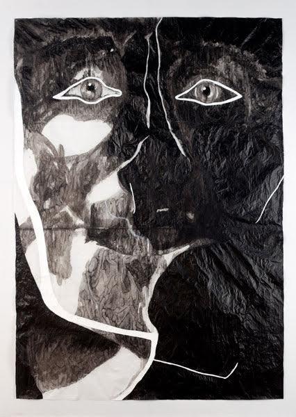Adriana Molder, My Icarus, 2012, tinta-da-China e acrílico sobre papel esquisso, 100 x 75 cm