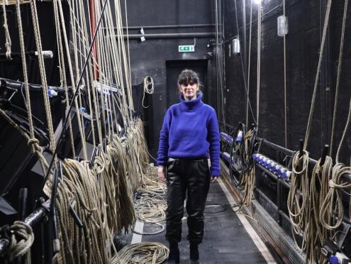 Patrícia Portela, diretora artística do Teatro Viriato, em Viseu. Foto de Mariana Carneiro.