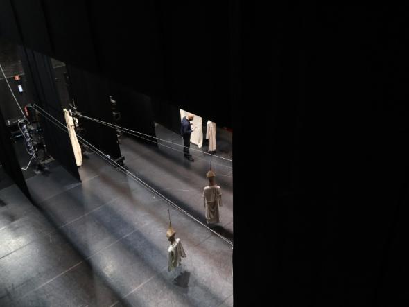 Interior do Teatro Viriato, em Viseu. Foto de Mariana Carneiro.