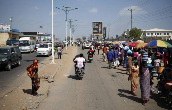 Uma rua de Juba, capital do Sudão do Sul, foto de Goran Tomasevic/REUTERS