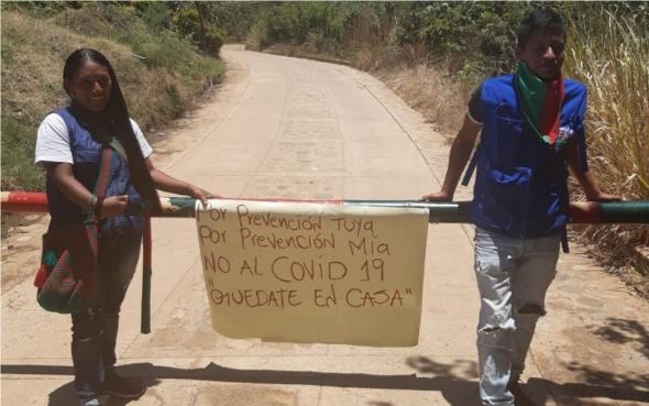 Comunidades indígenas em toda a América Latina fecham as suas comunidades para evitar o contágio.