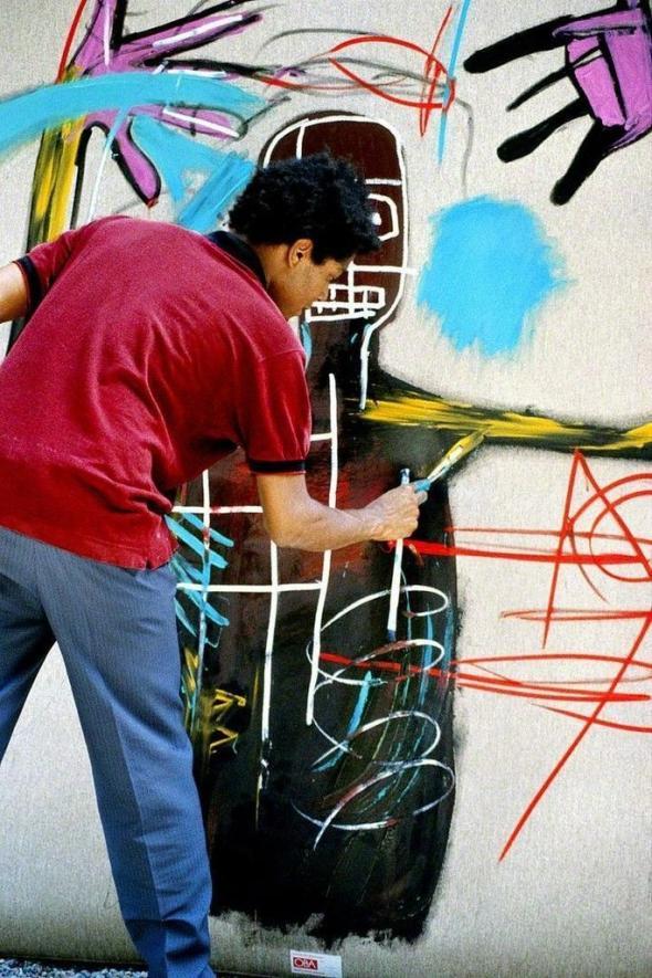 Lee Jaffe. 'Untitled'. Jean-Michel Basquiat, working 4,'. 1983. HG Contemporary