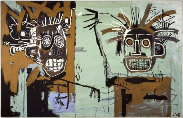 Jean-Michel Basquiat. Untitled (Two Heads on Gold), 1982. Gagosian