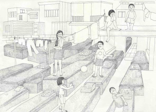 'The Gravekeeper', illustration de l'artiste taïwanais Ling-yu He