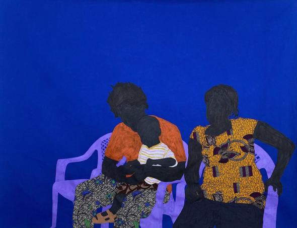 Raphael Adjetey Mayne. Selorm and his uncle, 2020. Ross-Sutton Gallery