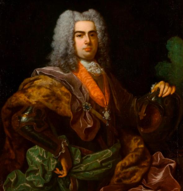 D. João V representado numa pintura a óleo de Jean Ranc (1674–1735)