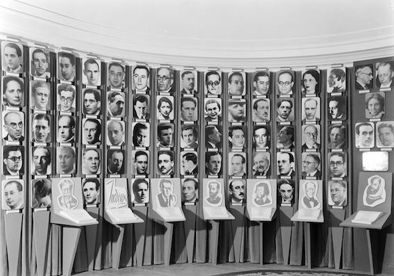 Exposição Secretariado Nacional Informação, 1948. Lisboa, Portugal. Exposição Catorze Anos de Política do Espírito (Lisboa, 1948). Fotógrafo - Mário Novais. Fundação Calouste Gulbenkian
