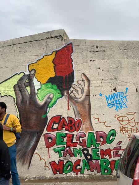 Foto publicada na página de Facebook Campanha Nacional de Solidariedade por Cabo Delgado.