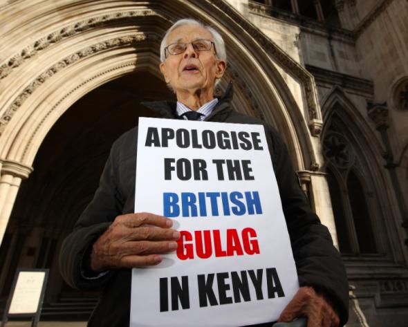 dois anos depois, o Reino Unido apresentou um pedido de desculpas formal pelas brutalidades na supressão da revolta no Quénia PETER MACDIARMID/GETTY IMAGES