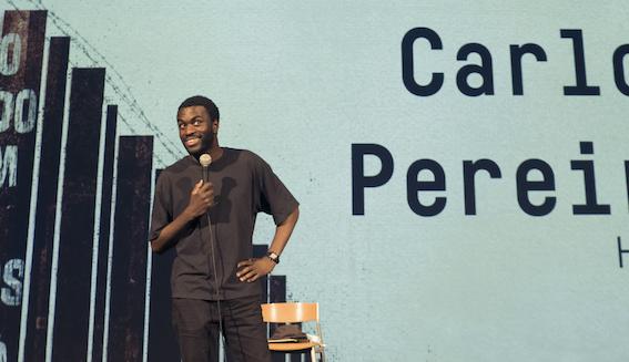 Carlos Pereira no Festival Política, em Lisboa, em abril de 2021. Fotografia gentilmente cedida por Luís Almeida