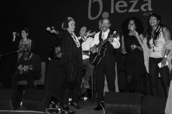 The famous Lisbon club 'B'leza' was named after the composer. It is a place where many popular morna singers performed, including Armando Tito, shown here. Marlene Nobre