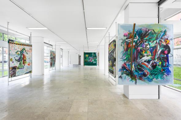 Vista de exposição. Octopus e Miopia. Ilídio Candja Candja. Galeria Quadrum 2021 © Bruno Lopes