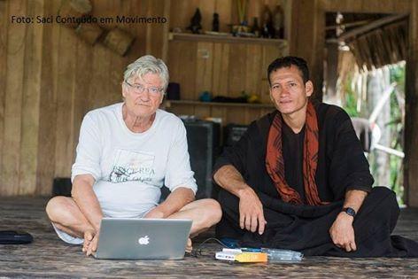 Os realizadores Vincent Carelli e Wewito Piyãko
