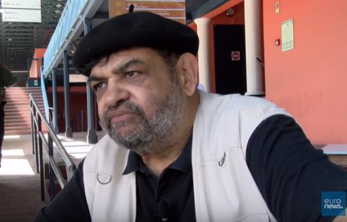 O historiador Yussuf Adam. Imagem Euronews