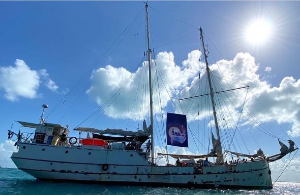 A expedição Travessia pela Vida zarpou de Isla Mujeres, no México, em maio último. (Enlace Zapatista)