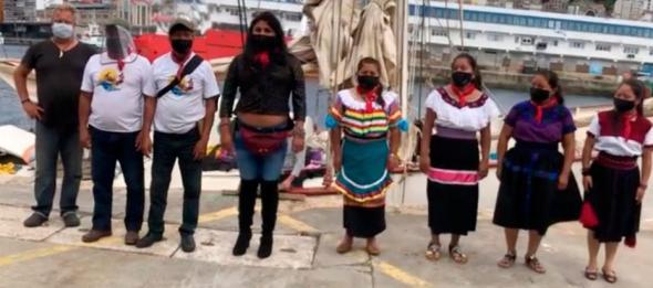 Delegação zapatista desembarcou em Vigo a 22 de junho (Enlace Zapatista)