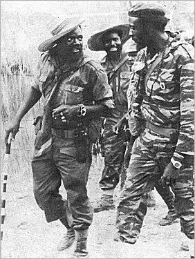Jonas Savimbi, M. N'Zau Puna e Samuel Chiwale