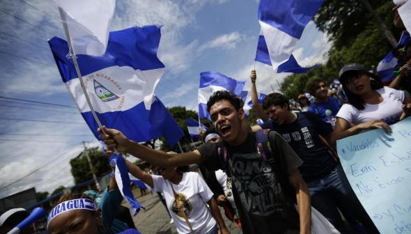 As manifestações de 2018 na Nicarágua instalaram uma crise política que perdura (El Dia)