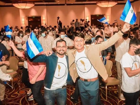 Max Jerez e Lesther Alemán foram presos em ações simultâneas (Alianza Universitaria Nicaraguënse)