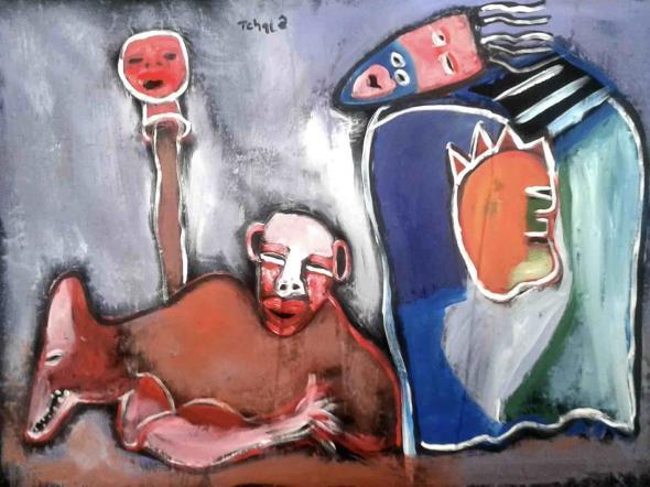 Paisagem, pintura de Tchalé Figueira